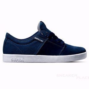 SUPRA stacks II low top suede canvas shoes